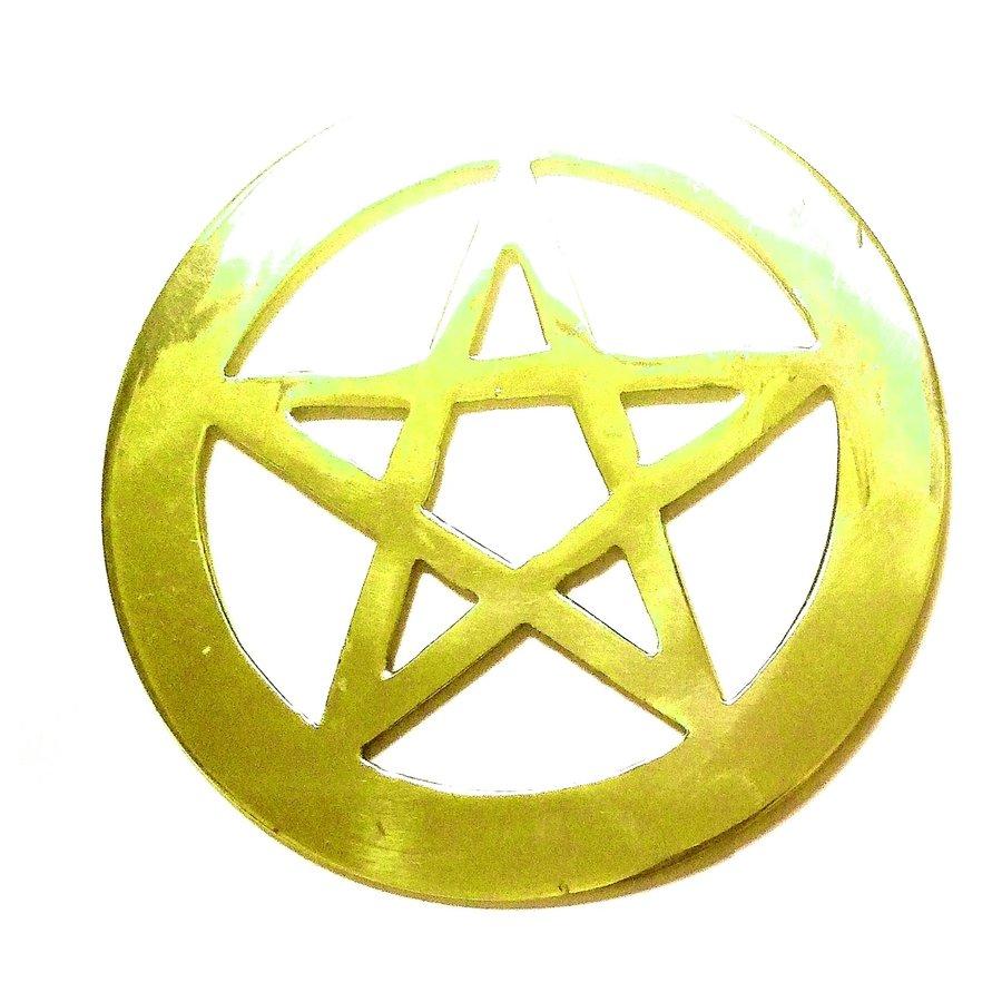 Pentagramm aus Messing,-5