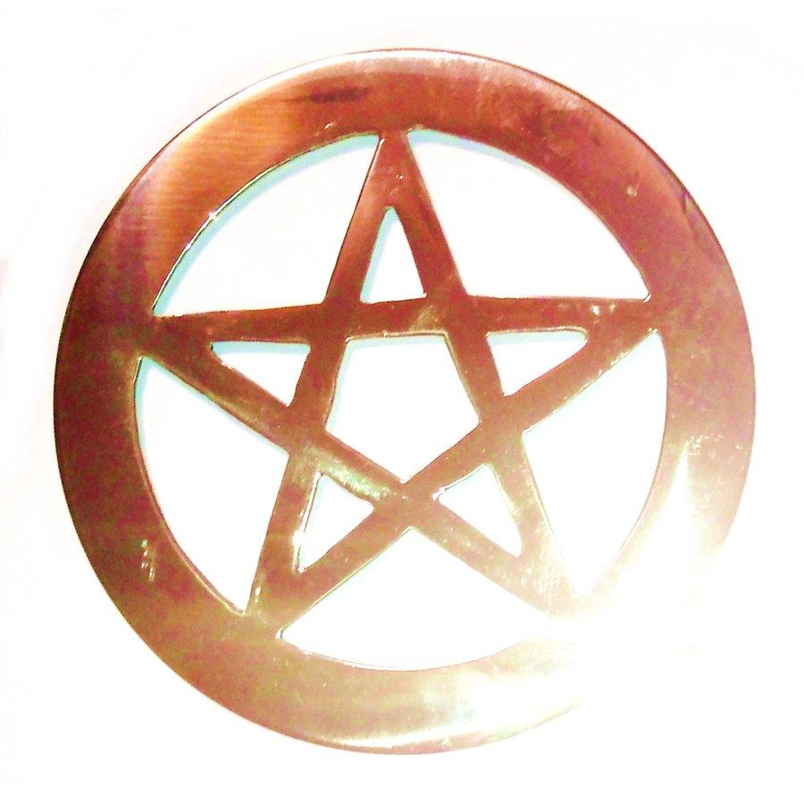 Pentagramm aus Messing,-6
