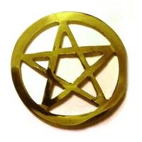 thumb-Pentagramm aus Messing,-1