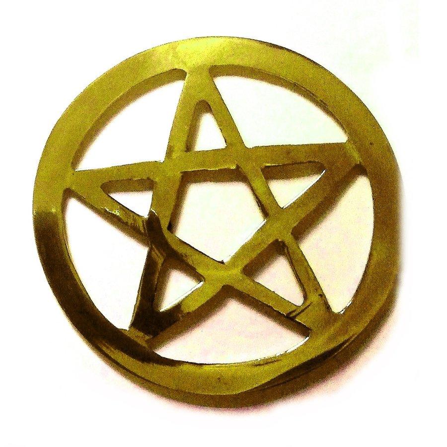 Pentagramm aus Messing,-1