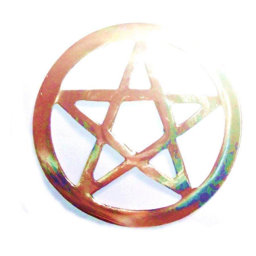 Pentagramm aus Messing,-7