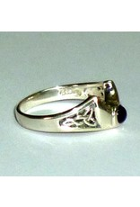 Ring Halbmond mit Amethyst aus 925-Silber