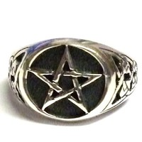 thumb-Ring mit Pentagramm, 925 Sterling Silber,-2