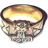thumb-Bronze Thor Hammer Ring mit Runen-2