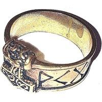 thumb-Bronze Thor Hammer Ring mit Runen-7