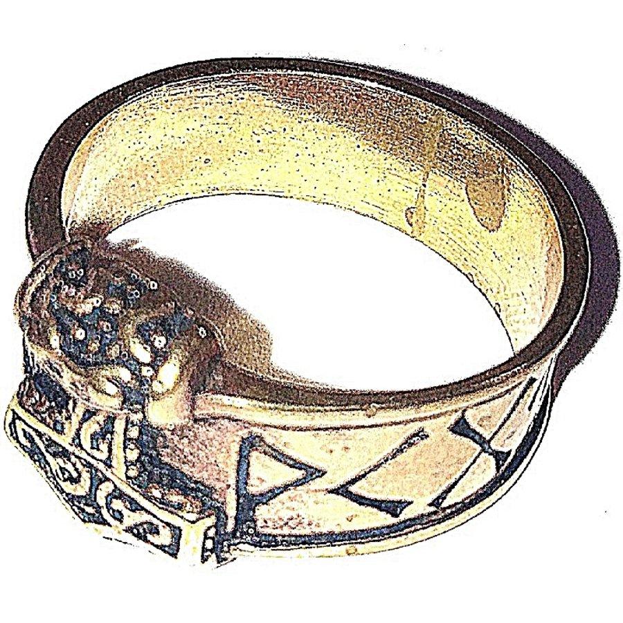 Bronze Thor Hammer Ring mit Runen-7