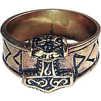 thumb-Bronze Thor Hammer Ring mit Runen-9