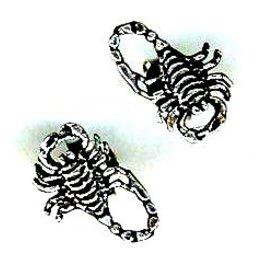 Skorpion Ohrstecker silber