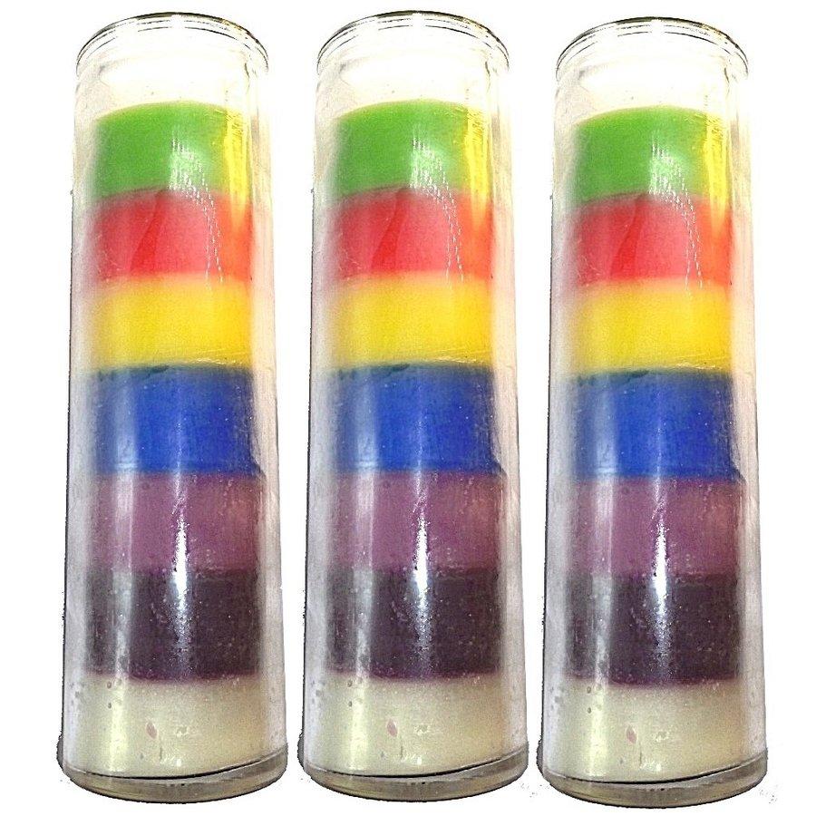 Kerze im Glas, Sieben Farben-2