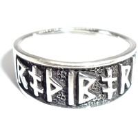 thumb-Ring mit Runen aus Bronze oder aus Silber-2