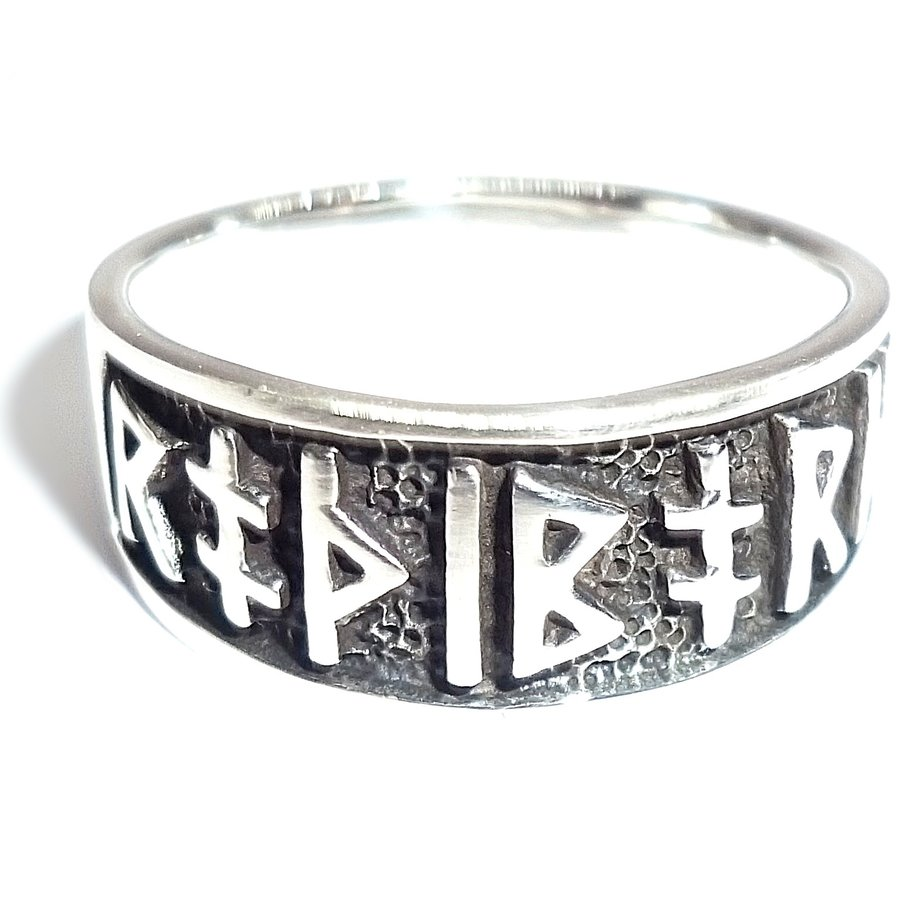Ring mit Runen aus Bronze oder aus Silber-2