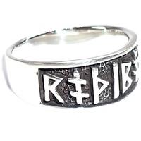 thumb-Ring mit Runen aus Bronze oder aus Silber-8