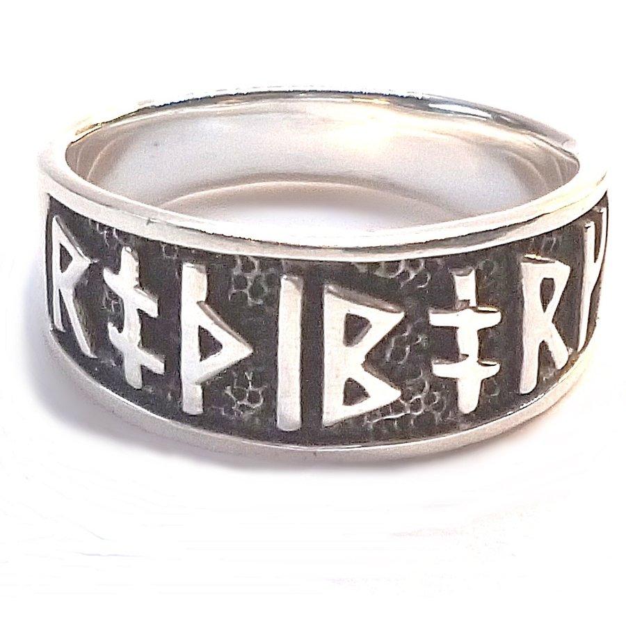 Ring mit Runen aus Bronze oder aus Silber-10