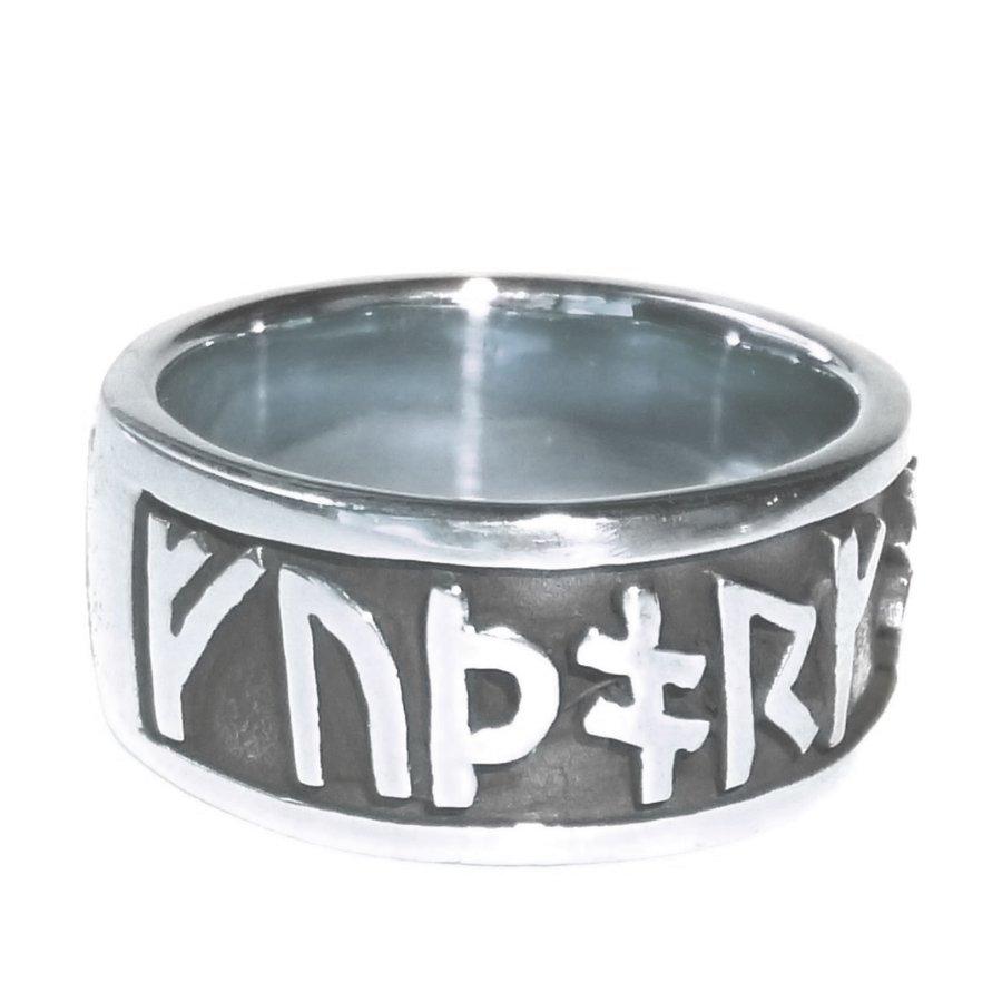 Runenring  aus Bronze oder aus 925 Sterling Silber-10