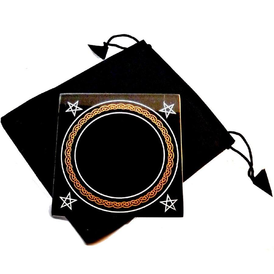 Schwarzer Spiegel mit Beutel-1