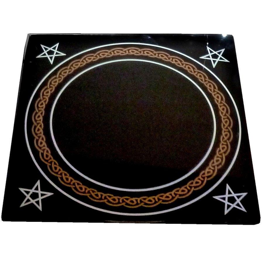 Schwarzer Spiegel mit Beutel-2