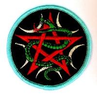thumb-Aufnäher (Patch) mit Pentagramm und Schlange-3