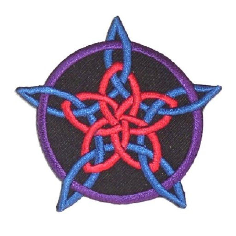Aufnäher (Patch) mit Rosenpentagramm-2