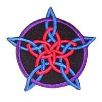 thumb-Aufnäher (Patch) mit Rosenpentagramm-1