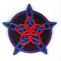 thumb-Aufnäher (Patch) mit Rosenpentagramm-3