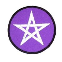 thumb-Aufnäher (Patch) mit Pentagramm violett/weiß-1