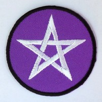 thumb-Aufnäher (Patch) mit Pentagramm violett/weiß-2