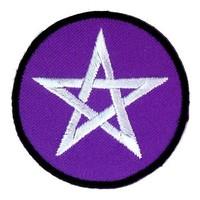thumb-Aufnäher (Patch) mit Pentagramm violett/weiß-3