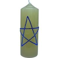 thumb-Altarkerzen, Natur mit Pentagramm-1