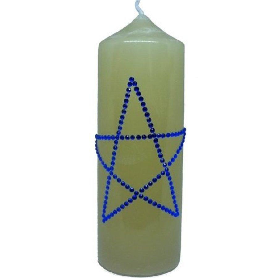 Altarkerzen, Natur mit Pentagramm-1
