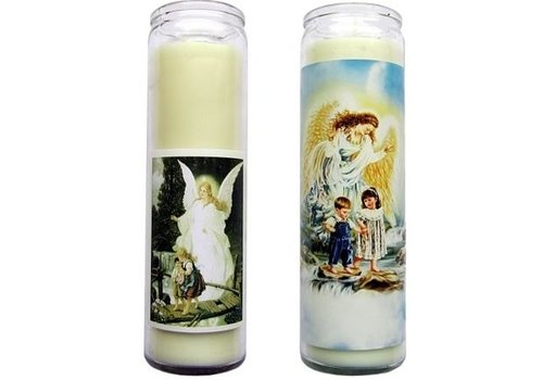 Schutzengel, Glas Kerzen