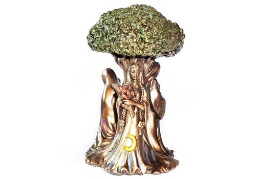 Figur Mädchen, Mutter, Greisin mit Lebensbaum