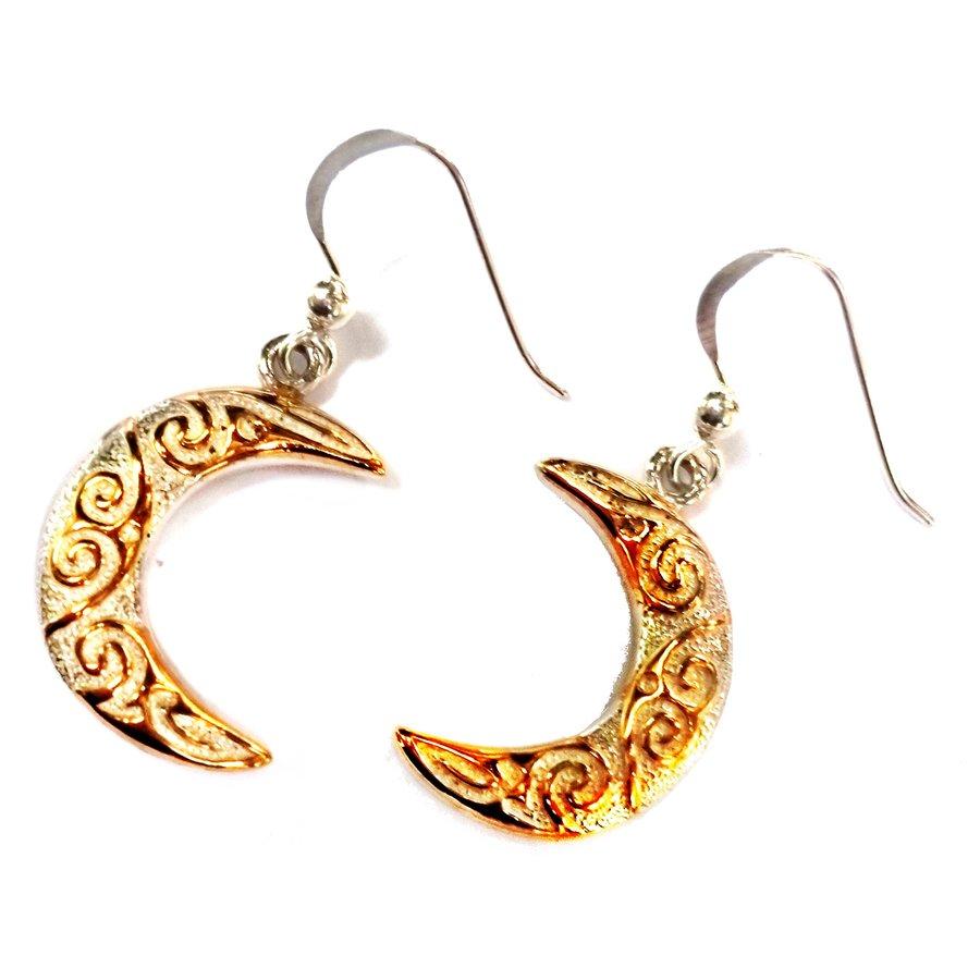 Ohrringe Halbmond aus Silber vergoldet-1