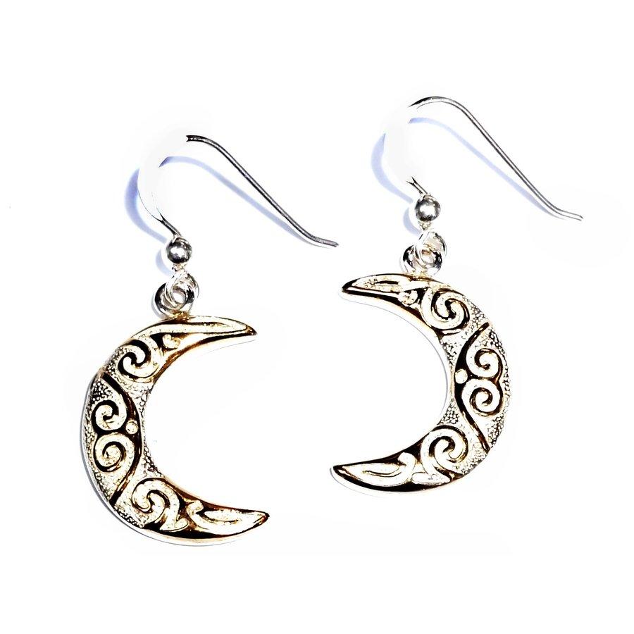 Ohrringe Halbmond aus Silber vergoldet-3