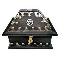 thumb-Holzkästchen mit Pentagramm im antik Look USA Salem Box-1