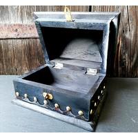 thumb-Holzkästchen mit Pentagramm im antik Look USA Salem Box-2