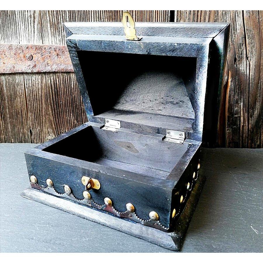 Holzkästchen mit Pentagramm im antik Look USA Salem Box-2