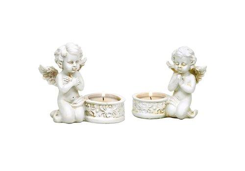 """Zwei Teelichthalter """"Betende Engelchen"""""""