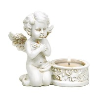 thumb-Zwei Engelchen mit Teelichthalter-2