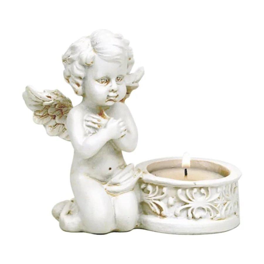 Zwei Engelchen mit Teelichthalter-2