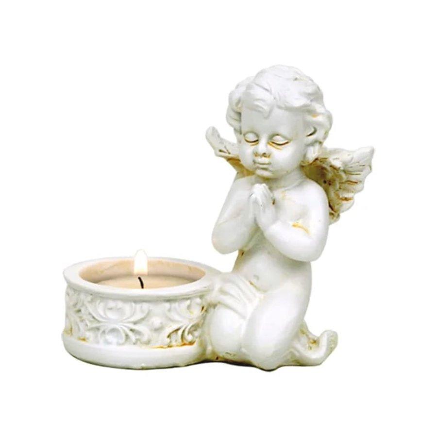 Zwei Engelchen mit Teelichthalter-4