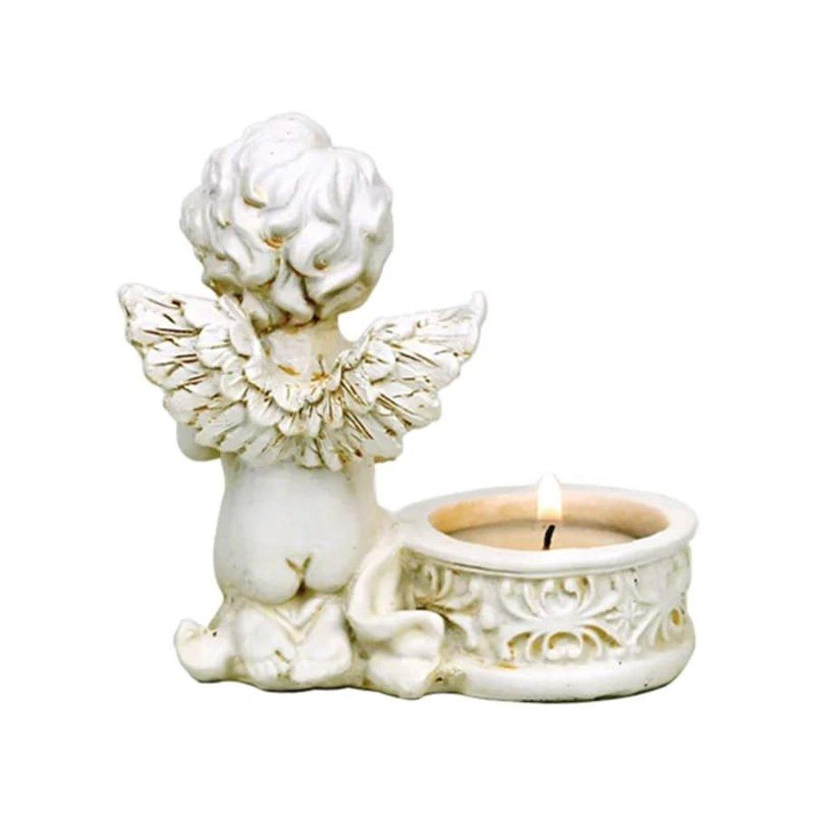 Zwei Engelchen mit Teelichthalter-5