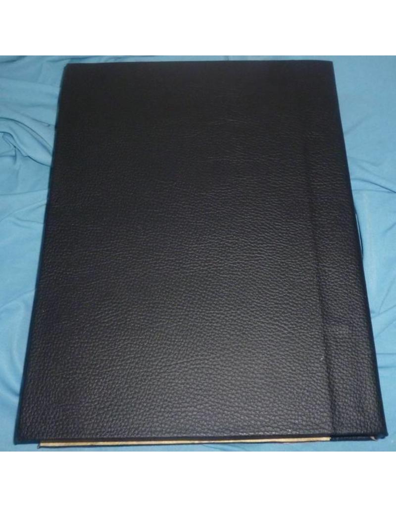 Schreibzeug Buch der Schatten mit Kupferbeschlägen und Pentagramm