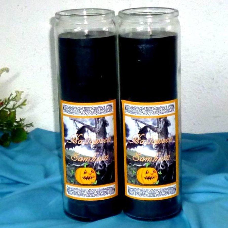 Halloween Samhain Jahreskreis Kerze im Glas-2