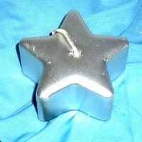thumb-Sternkerze silber-3