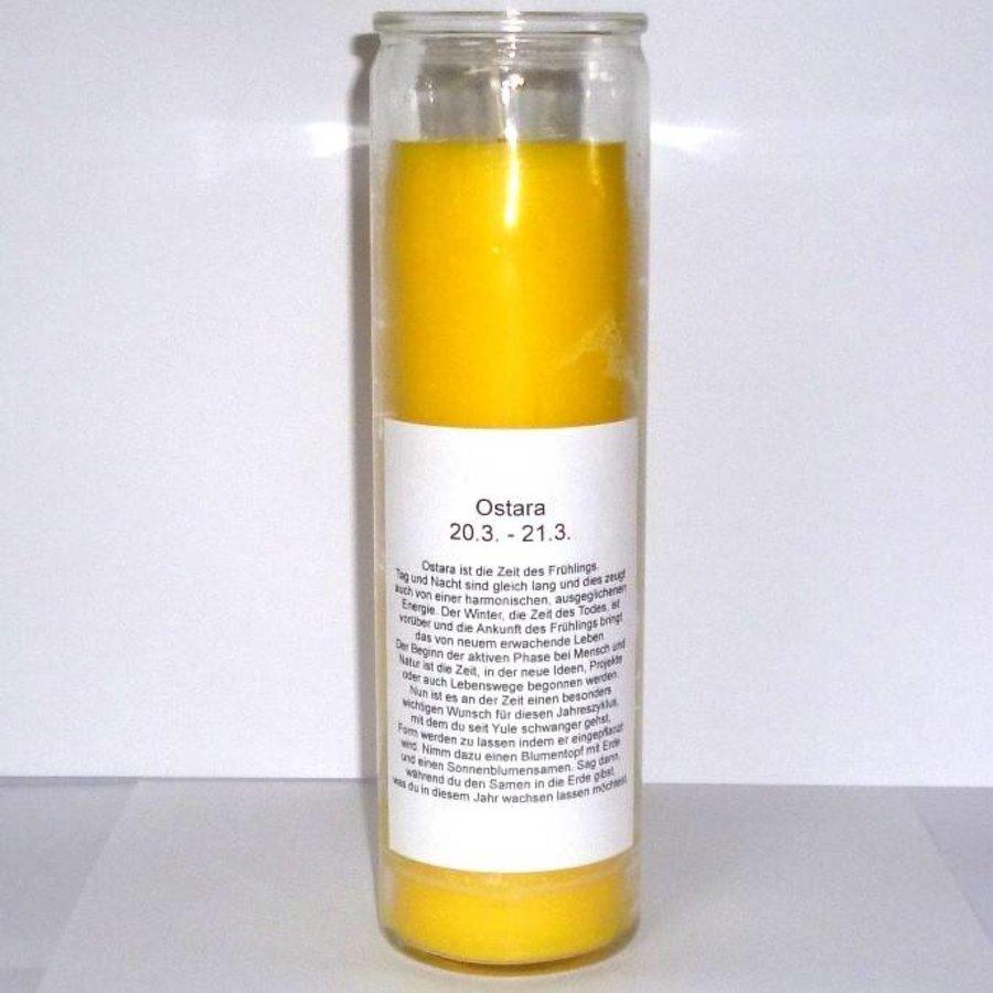 Ostara Jahreskreis Kerze im Glas-2