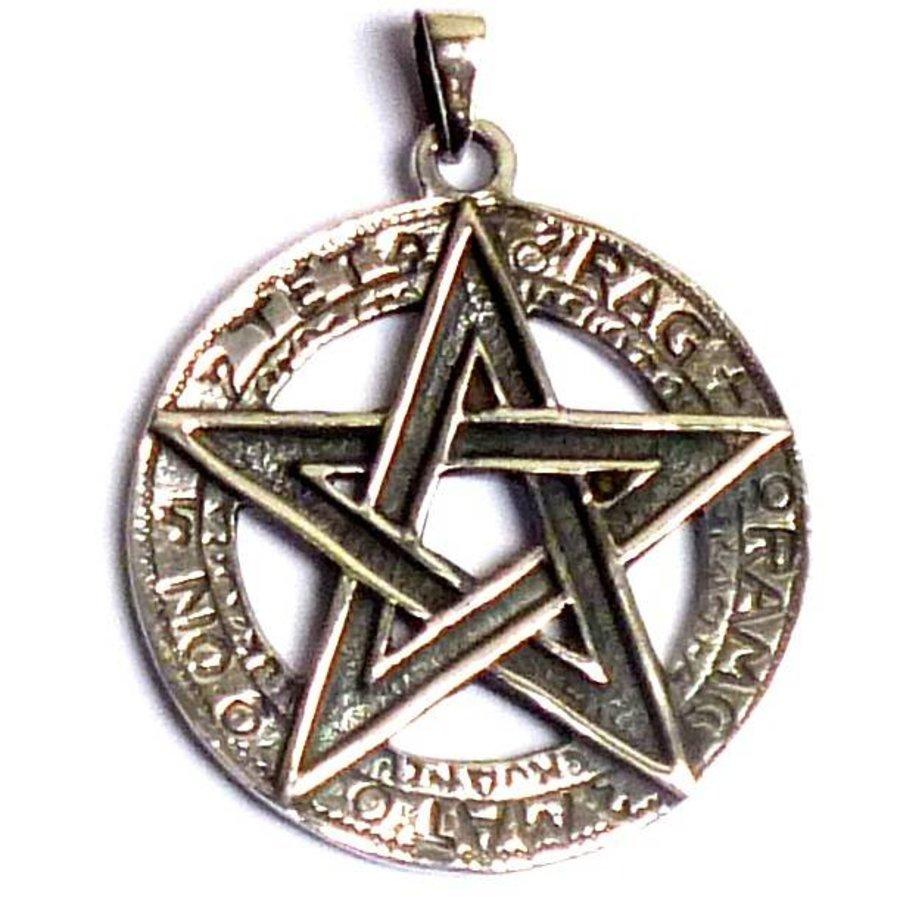 Pentagramm Anhänger, 925 Sterling Silber oder aus Bronze-3
