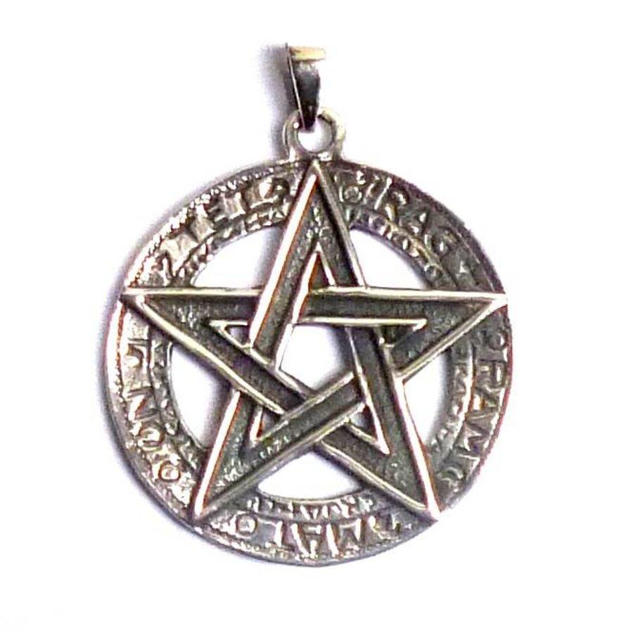 Pentagramm Anhänger, 925 Sterling Silber oder aus Bronze-4