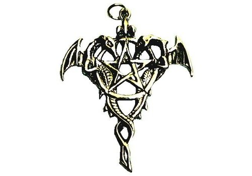 Amulett Drache Pentagramm 925-Silber