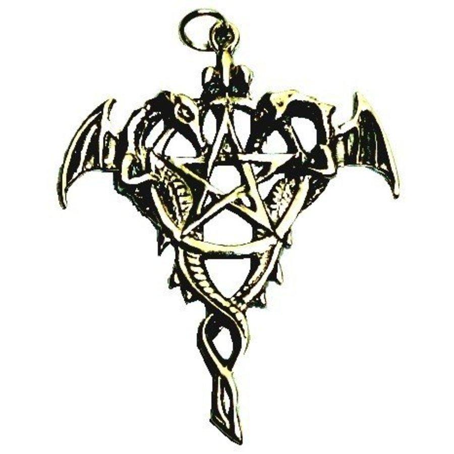 "Amulett ""Drako Pentagramm""-1"