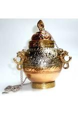 Schwenkräuchergefäß mit Ornamenten